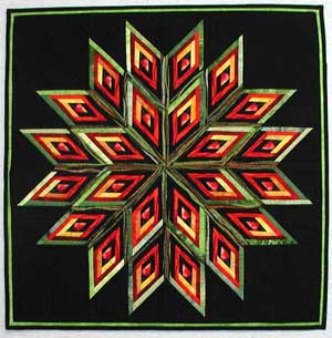 Spinning Diamonds Quilt Pattern with Kaye Wood - YouTube